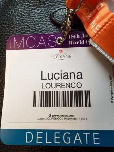 Crachá do congresso IMCAS em Paris